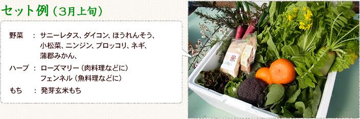 名古屋近郊で育てた有機野菜、米、果実、加工品のセット内容のイメージ